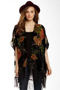 Daniel Rainn | Velvet Burnout Floral Kimono | Nordstrom Rack