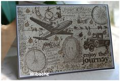 Stampin Up plus Tim Holtz and other stamps used in this big DinA5 card