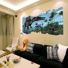 90 * 50cm legújabb 3D-s rajzfilm film Dinosaur haza matrica fal matrica…