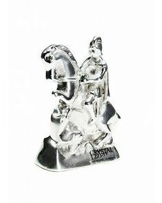 São Jorge - #Swarovski #cristais #aluminio #decoracao #saojorge