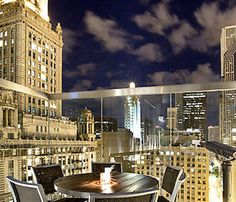 ROOF is almost as wide as it is high. Perched 27 stories above the Loop, the lounge spans 7,000 square feet. Chicago