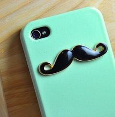 Must-have mustache iphone case! cute! #want #it!