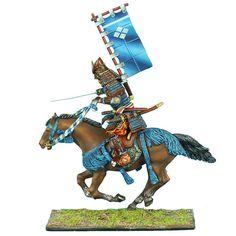 First Legion: SAM024 Mounted Samurai Charging with Katana and Sashimono - Takeda #FirstLegion