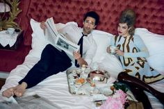 L'Amour Toujours: Natalia Vodianova and Adrian Brody by Peter Lindbergh for Vogue US July 2015 - DIOR Fall 2015