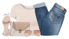 """♡♡"" by justice-ellis ❤ liked on Polyvore featuring American Apparel, 8, Pepe Jeans London and H&M"