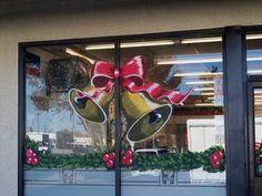 Admoor Splash Window Art & Signs - Palmdale, CA Christmas Window Decorations, Christmas Window Display, Office Christmas, Christmas Scenes, Christmas Wood, Christmas Windows, Painted Window Art, Painting On Glass Windows, Window Paint