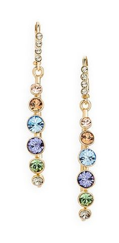 Multi Gemstone Drop Earrings <3 Love these ...they will go with so many of my outfits!