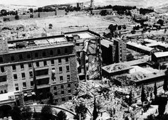 July 22,  1946: KING DAVID HOTEL BOMBING  -    Militant Zionist group Irgun blows up a wing of the King David Hotel in Jerusalem, killing 91 people. The site housed British administrative and military headquarters for Palestine.