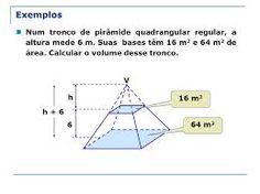 volume de piramide quadrangular - Pesquisa Google