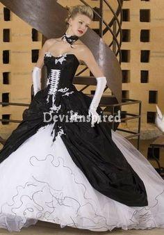 74 best Gothic wedding dresses images on Pinterest | Gothic dress ...