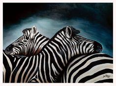 Zebras-Acrylic on Canvas
