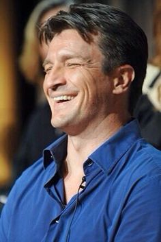 Nathan Fillion - such a great smile. His whole face gets into the act :) Castle Tv Series, Castle Tv Shows, Richard Castle, Nathan Fillion, Victor Hugo, Pretty Men, Beautiful Men, Beautiful People, Castle Beckett