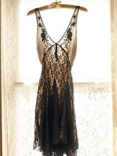 Sheer floral lace slip dress