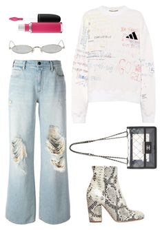 """""""Untitled #235"""" by minia001 ❤ liked on Polyvore featuring Alexander Wang, Gentle Monster, Yeezy by Kanye West, Strategia and MAC Cosmetics"""