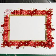 Quilling photo frame - love Quilling Photo Frames, Quilling Art, Paper, Instagram Posts, Decor, Decoration, Decorating, Quilling, Quilting