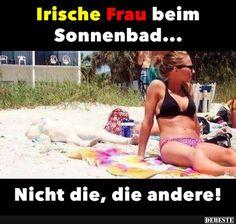 Irische Frau bei Sonnenbad.. | Lustige Bilder, Sprüche, Witze, echt lustig