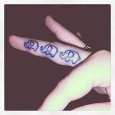 Elephant Finger Tattoo :)