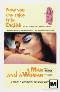 A Man and A Woman directed by Claude Lelouch and stars Anouk Aimée and Jean-Louis Trintignant. The Best Films, Great Movies, Internet Movies, Movies Online, Anouk Aimee, French Movies, Top Film, Woman Movie, Romantic Movies