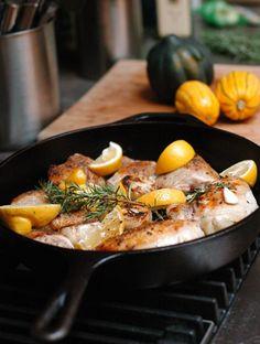 Roasted garlic lemon chicken... con pescado ha de funcionar igual de bien!