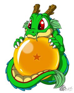 cutie shenron with dragon ball