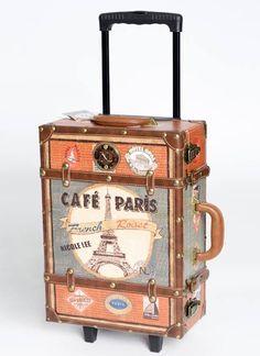 Leatherette Trim Paris Design suitcase - http://www.gojane.com/64623-stuff-leatherette-trim-paris-design-suitcase.html