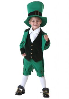 Cute St. Patrick's Day Leprechaun Costumes For Kids