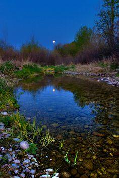 Moon river (Boise River, Idaho)