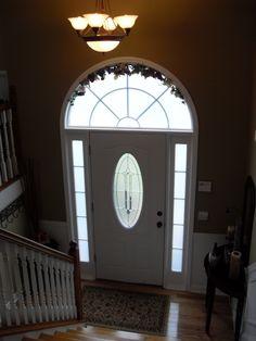 Split Front Entry Idea....hooks On Left Side Of Entry Window Above
