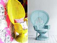 DIY HOME: PAINTED PEACOCK CHAIR