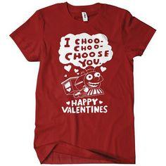 Amazon.com: I Choo Choo Choose You Womens T-Shirt Happy Valentines Day Gift Funny Tee Love: Clothing