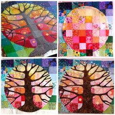 Tutorial on how to make this appliquéd funky art quilt