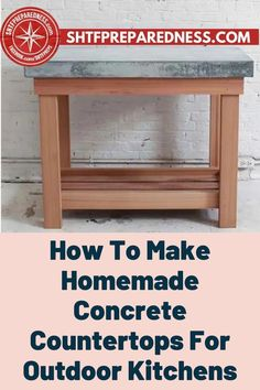 Do you want to build a durable outdoor kitchen? If so, you should take a look at this article by SHTF Preparedness to learn how to make homemade concrete countertops. Making sure that your outdoor kitchen is durable and will last for a long time is vital, so don't make any mistakes and check out this article now for more. #outdoorkitchen #durablekitchen #outdoorkitchenideas Easy Diy Projects, Garden Projects, Design Projects, Best Money Saving Tips, Concrete Countertops, How To Make Homemade, Useful Life Hacks, Shtf, Outdoor Entertaining