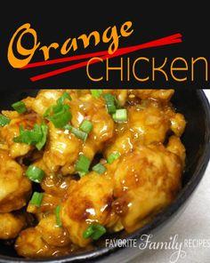 This orange chicken is just as good as what you would order in a restaurant! #orangechicken #orangechickenrecipe