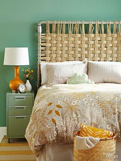 I am really loving this cool Rope Headboard over at BHG…it's different and can blend into so many different home decors! All you are going to need are some plumbing parts and rope…you will find the step by step waiting for you. A perfect weekend project! Check it out!