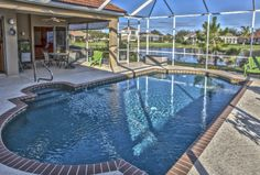 Beautiful Pool & Lake View in this East Bradenton Home in River Club