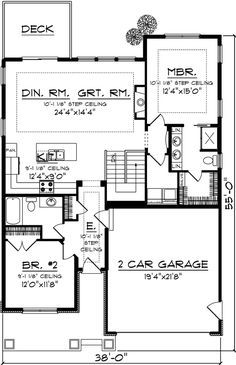 Extend garage out to make room for shop and that will make porch larger