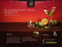 Restaurant website design, design, illustration, typography, photography