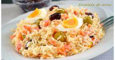Fabulosa receta para Ensalada de arroz con mayonesa (Thermomix).