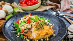 Miso Black Cod with Apple Green Bean Salad, Jet Tila Fish Recipes, Seafood Recipes, Asian Recipes, Chicken Recipes, Cooking Recipes, Healthy Recipes, Ethnic Recipes, Healthy Meals, Green Bean Salads