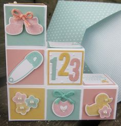 Stampin' Up!, Something for Baby,Baby Firsts Framelits, Something to Say. Inspired by Deb Valder.