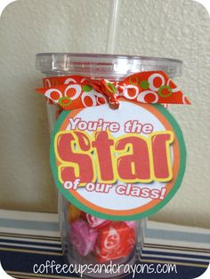 """starburst cup for teacher or """"Good friends are like stars you don't always see them but you know they are there."""""""