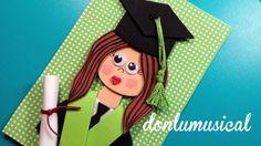 graduacion goma eva niño niña diploma birrete donlumusical