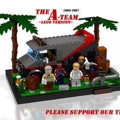 Hello and welcome to my next Lego Idea: The A-Team The A-Team is an American action-adventure television series that ran on NBC from 1983 to 1987 about members of a fictitious former Special Forces unit. The series was created by Stephen J. Cannell and Frank Lupo. As a huge fan of the 80s I had to create this set. While playing Lego Dimensions ( I love the B.A. Minifigure. Thank you Lego) I had the Idea to create this set with palms and boxes. I know it's not the first creation about the…