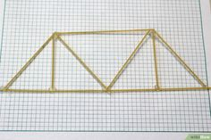 How to Build a Spaghetti Bridge. Dry spaghetti is very brittle and breaks easily, but by gluing the strands together to create different shapes, you can make a model bridge that can hold a surprising amount of weight. Spaghetti Bridge, Making A Model, Stem For Kids, Bridge Design, Glue Crafts, School Architecture, Projects For Kids, Bridges, Building