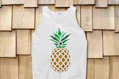Pineapple Marijuana Leaves Trippy Sleeveless by StonerMotivation