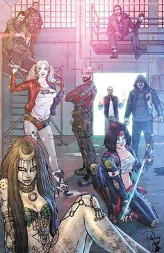 Suicide squad with Harley