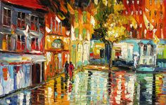 MADE to ORDER Original Oil Painting Palette Knife Cityscape