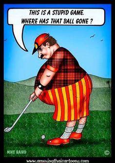 I know many golfers with that problem ;)