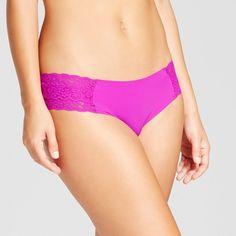 Women's Cheeky Laser Cut with Lace Boyshorts - Xhilaration Neon Purple XL