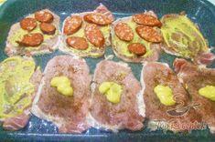 Recept elkészítése Réteges sertésszelet, lépés 4 Czech Recipes, Ethnic Recipes, Food Dishes, Sushi, Muffin, Pork, Cooking Recipes, Favorite Recipes, Treats